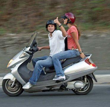 Катание на скутере